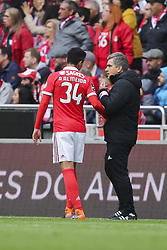 April 30, 2018 - Na - Lisboa, 04/28/2018 - Sport Lisboa Benfica received this afternoon at Estádio da Luz Tondela in the 32nd Match of the first Liga NOS. Epoca 2017 / 2018. André Almeida to Speak with the Doctor of Benfica  (Credit Image: © Atlantico Press via ZUMA Wire)