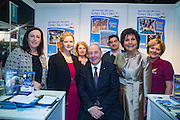 NO FEE PICTURES<br /> 23/1/16 Minister for Tourism Michael Ring and Maureen Ledwith, organiser of the Holiday World Show at the Waterford stand at the Holiday World Show at the RDS in Dublin. Picture: Arthur Carron