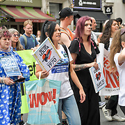 All women animals rights activists march to Liberation 4 Lolita hosted by Until Lolita is Home and Activism For Life been captivity for over 49 years in central London.