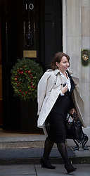 © licensed to London News Pictures. London, UK 04/12/2012. Sarah Sands, the editor of The Evening Standard leaving on Downing Street as most editors of the national daily newspapers meeting the Prime Minister David Cameron to discuss ideas for a new system of press regulation. Photo credit: Tolga Akmen/LNP