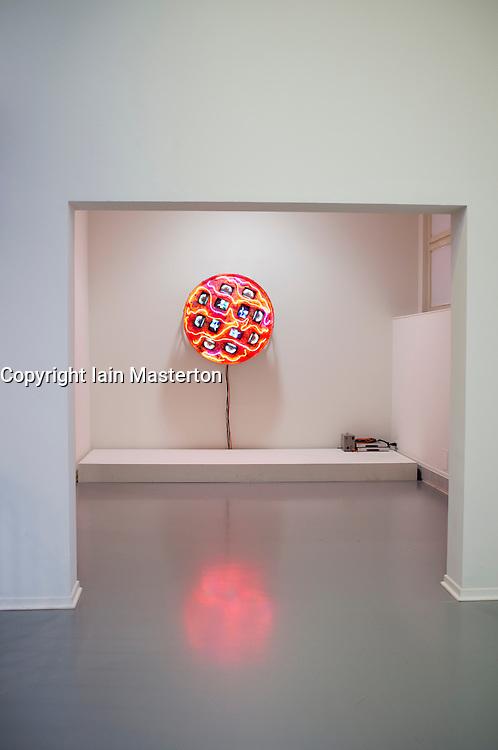 Multi-media sculpture Mercury,1991 by Nam June Paik at the Museum Kunst Palast or Art Palace Museum in Dusseldorf in Germany
