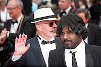 Director Jacques Audiard and Actor Jesuthasan Antonythasan at the Closing ceremony and premiere of La Glace Et Le Ciel at the 68th Cannes Film Festival, Sunday 24th May 2015, Cannes, France.