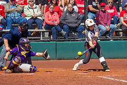 NORMAL, IL - April 06:  during a college women's softball game between the ISU Redbirds and the University of Northern Iowa Panthers on April 06 2019 at Marian Kneer Field in Normal, IL. (Photo by Alan Look)<br /> <br /> Umpire: Marc Drouillard