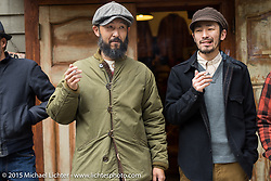 At the Freewheelers And Company shop before a ride with friends of the shop around Tokyo, Japan. December 8, 2015.  Photography ©2015 Michael Lichter.