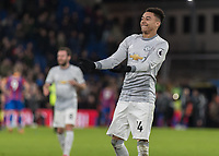 Football - 2017 / 2018 Premier League - Crystal Palace vs. Manchester United<br /> <br /> Jesse Lingard (Manchester United) at the end of the game at Selhurst Park.<br /> <br /> COLORSPORT/DANIEL BEARHAM