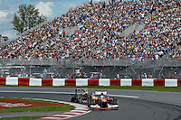 MOTORSPORT - F1 2013 - GRAND PRIX OF CANADA - MONTREAL (CAN) - 07 TO 09/06/2013 - PHOTO ERIC VARGIOLU / DPPI ALONSO FERNANDO (SPA) - FERRARI F138 - ACTION<br /> WEBBER MARK (AUS) - RED BULL RENAULT RB9 - ACTION