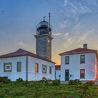 Beavertail Lighthouse & Museum at Jamestown, Rhode Island. This historic Rhode Island lighthouse is located in Beavertail State Park and mark the entrance to Narragansett Bay.<br /> <br /> Beavertail Lighthouse photography images are available as museum quality photo, canvas, acrylic, wood or metal prints. Wall art prints may be framed and matted to the individual liking and New England interior design projects decoration needs.<br /> <br /> Good light and happy photo making!<br /> <br /> My best,<br /> <br /> Juergen