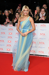 Holly Willoughby attending the National Television Awards 2018 held at the O2, London. Photo credit should read: Doug Peters/EMPICS Entertainment
