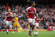 Theo Walcott Of Arsenal in action.<br /> Premier league match, Arsenal v Brighton & Hove Albion at the Emirates Stadium in London on Sunday 1st October 2017. pic by Kieran Clarke, Andrew Orchard sports photography.
