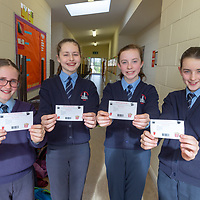 6th Class Pupils from Scoil Na Mainistreach Quin Aisling Egan, Tara Stritch, Lucy Leamy and Zara Kirby with entrance tickets to their Jessies 'Movie Spectacular' Showcase day