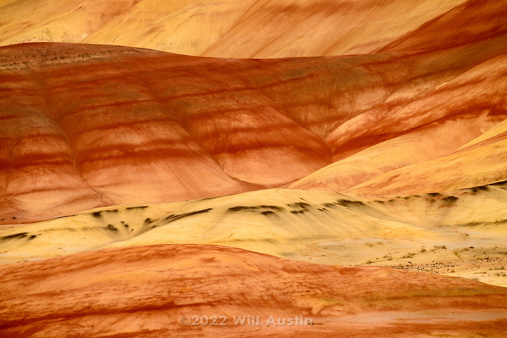 Painted Hills unit in the John Day Fossil Beds National Monument in Oregon, USA
