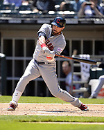 CHICAGO - MAY 14:  Jason Kipnis #22 of the Cleveland Indians bats against the Chicago White Sox on May 14, 2019 at Guaranteed Rate Field in Chicago, Illinois.  (Photo by Ron Vesely)  Subject:  Jason Kipnis
