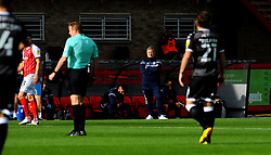 Crawley Town manager John Yems watches his team from he sideline - Mandatory by-line: Nizaam Jones/JMP - 10/10/2020 - FOOTBALL - Jonny-Rocks Stadium - Cheltenham, England - Cheltenham Town v Crawley Town - Sky Bet League Two