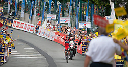 03.07.2013, Alpendorf, AUT, 65. Oesterreich Rundfahrt, 4. Etappe, Matrei in Osttirol - St. Johann/ Alpendorf, im Bild Glocknerkönig und Etappensieger Mathias Frank // during the 65th Tour of Austria, Stage 4, from Matrei to St. Johann/ Alpendorf, Salzburg, Austria on 2013/07/03. EXPA Pictures © 2013, PhotoCredit: EXPA/ Juergen Feichter
