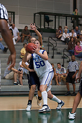 21 June 2008: Olivia Lett #50 skates into the paint for a shot. IBCA ( Illinois Coaches Basketball Association) Girls Class 1 & 2 All Star Game held at the Shirk Center on the Campus of Illinois Wesleyan University in Bloomington Illinois