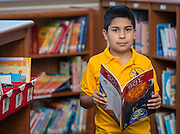 Diego Guerra poses for a photograph at Crockett Elementary School, February 13, 2015.