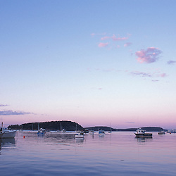 Bar Harbor, ME.Bar Harbor and the Porcupine Islands as seen from the Shore Path.