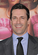 """WESTWOOD, CA - APRIL 28: Jon Hamm arrives at the premiere of Universal Pictures' """"Bridesmaids"""" held at Mann Village Theatre on April 28, 2011 in Los Angeles, California."""