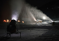 Snow King Mountain has been running their snow guns for as long as conditions allow in preparation for their snow-cross event this weekend at the base of the Town Hill.