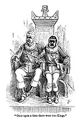 """Once upon a time there were two Kings."" (a Victorian cartoon shows Gilbert and Sullivan dressed as the Gondoliers in their musical)"