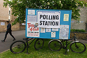 Britons go to the polls today in a general election predicted to be the closest for decades as no single party is expected to secure a majority. Londoners vote at their local polling station, a Methodist church in the south London borough of Dulwich, Southwark.