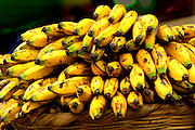 Bananas for sale at the street market in Chinandega, Nicaragua.