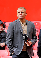 Football - 2021 / 2022 Pre-Season Friendly - Manchester United vs Everton - Old Trafford - Saturday 7th August 2021<br /> <br /> Former Manchester United defender Wes Brown covering the game for MUTV, at Old Trafford.<br /> <br /> COLORSPORT/ALAN MARTIN