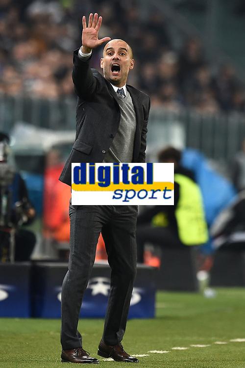 Josep Guardiola Bayern <br /> Torino 23-02-2016 Juventus Stadium, Football Champions League 2015/2016 Round of 16 Juventus - Bayern Munich / Juventus - Bayern Monaco .  Foto Image Sport / Insidefoto