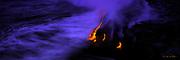 Lava into ocean,Kilauea Volcano, Hawaii Volcanoes National Park, Island of Hawaii, Hawaii, USA