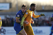 Paul Robinson of AFC Wimbledon during the Sky Bet League 2 match between AFC Wimbledon and Mansfield Town at the Cherry Red Records Stadium, Kingston, England on 16 January 2016. Photo by Stuart Butcher.