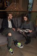 ADAM GUEST; RACHAEL JEVONS, Spectator Life - 3rd birthday party. Belgraves Hotel, 20 Chesham Place, London, SW1X 8HQ, 31 March 2015