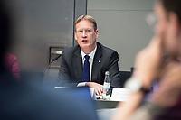 07 MAY 2018, BERLIN/GERMANY:<br /> Christian Reuter, Generalsekretaer DRK, Deutsches Rotes Kreuz, DRK Jahrespressekonferenz, Bundespresseamt<br /> IMAGE: 20180507-01-047