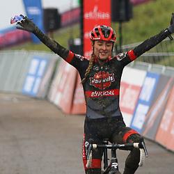 PERKPOLDER (NED) VELDRIJDEN<br /> Denise Betsema (NED) wins Worldcup race Hulst-Perkpolder
