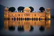 The Jal Mahal or water palace built by Madho Singh in 1799 as a summer resort on the Man Sagar. Jaipur, India