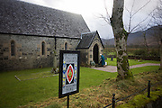 St Columba's church at Gruline, Isle of Mull, Scotland. The building of St Columba's at Gruline was begun in June 1873, the cost being divided between Captain Parr of Killiechronan and Colonel Greenhill-Gardyne of Glenforsa House. The church was completed in December 1873 and the first service held there in June 1874, with 26 people present for the English service in the morning and 47 for the Gaelic service in the evening. The church and the adjacent burial ground were consecrated on Sunday 4th July 1875 by Bishop George Richard Mackarness (1823 – 1883). It was the first church to be consecrated in Mull for some centuries. There are memorial plaques to these two benefactors on the walls of the nave. In 1893 the Gruline Estate was sold to William and Mary Melles. Much of the woodwork in the church was carved by Mary Melles, including the pulpit and reredos. Daphne Margaret Gough, Mary Melles's grand-daughter was the only person, it is believed, to have been baptised, confirmed, married and have her ashes buried at Saint Columba's.(http://www.grulinechurch.org.uk)
