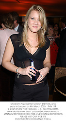 Children's tv presenter MADDY STEVENS, at a party in London on 4th March 2003.PHN 119