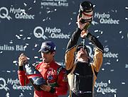 11, Lucas di Grassi (BRA) - ABT Schaeffler Audi Sport, ABT Schaeffler FE02<br /> Winner of the FormulaE championship 2017 and  25, Jean-Eric Vergne (FRA) ñ Techeetah, Renault Z.E. 16<br /> Winner of the last race of the season in montreal celebrate on the podium<br /> CANADA e-Prix,FIA Formula E Grand Prix in Montreal on 30 july, 2017 . Formel E in Montreal.fee liable image,copyright@  ATP / Patrice Lapointe