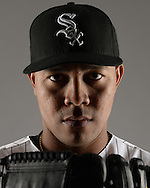 GLENDALE, ARIZONA - FEBRUARY 27:  Jose Quintana #62 of the Chicago White Sox poses for a portrait during photo day on February 27, 2015 at Camelback Ranch in Glendale Arizona.  (Photo by Ron Vesely)    Subject:  Jose Quintana