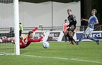 Tippeligaen 2013<br /> Sandnes Ulf - Odd Ballklubb<br /> 20.10.13 Sandnes Stadion, Sandnes, Norge<br /> <br /> Foto. Simon Rogers, Digitalsport.<br /> <br /> Sandnes. Sean McDermott, Kenneth Sola.<br /> Odd. Niklas Gunnarsson.