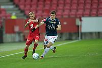 Fotball<br /> 04.11.2018<br /> Eliteserien <br /> Brann Stadion<br /> Brann - Strømsgodset<br /> Taijo Teniste (L) , Brann<br /> Andreas Hoven (R) , Strømsgodset <br /> Foto: Astrid M. Nordhaug