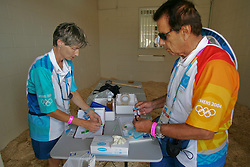 Dope Testing<br /> Olympic Games Athens 2004<br /> Photo © Hippo Foto