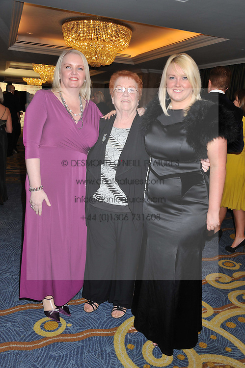 Left to right, JO WALKER, ANNE WALKER and NATALIE WALKER at the 20th CEW (UK) Achiever Awards 2012 - celebrating two decades of women, passion, beauty, held at the Hilton, park Lane, London on 16th October 2012.