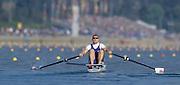 Sydney, AUSTRALIA, GBR M1X, Matt WELLS. 2000 Olympic Regatta, West Lakes Penrith. NSW.  [Mandatory Credit. Peter Spurrier/Intersport Images] Sydney International Regatta Centre (SIRC) 2000 Olympic Rowing Regatta00085138.tif