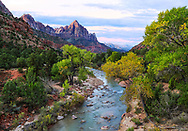 Autumn Colors along the Virgin River and the Zion Valley at Zion National Park, Utah, USA