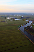 Nederland, Utrecht, Amersfoort, 10-01-2011;.De rivier de Eem bij Grote Melm in de Eempolder. Het riviertje doorsnijdt de polders tussen Baarn en Amersfoort en mondt uit in het Eemmeer..The river Eem in the Eempolder. The river runs through the polders between the cities of Amersfoort and Baarn and ends into the Eemmeer..luchtfoto (toeslag), aerial photo (additional fee required).foto/photo Siebe Swart