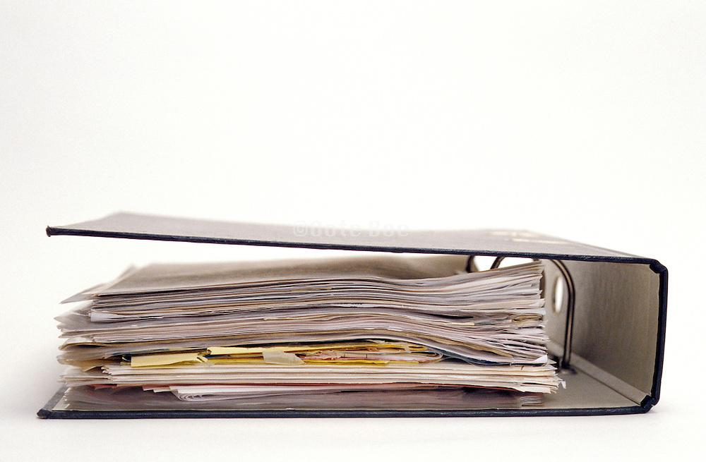 binder with paperwork
