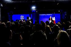 May 7, 2017 - Paris, France, France - allocution de Marine Le Pen - candidate FN / Front National aux elections presidentielles de 2017 (Credit Image: © Panoramic via ZUMA Press)