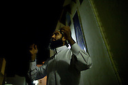 A young Salafist activists talks outside the grand mosque in Karaouine. Like many of his peers he had spent time in jail and was reveling in the new found freedom after the revolution.