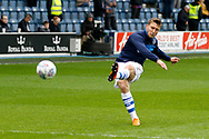 QPR midfielder Luke Freeman (7) warms up before kick off during the EFL Sky Bet Championship match between Queens Park Rangers and Birmingham City at the Loftus Road Stadium, London, England on 28 April 2018. Picture by Andy Walter.