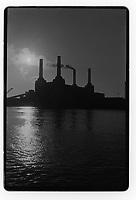 Battersea Power station, London, 1982. South-East London, 1982